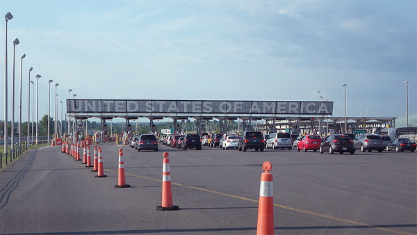 border crossing United States of america